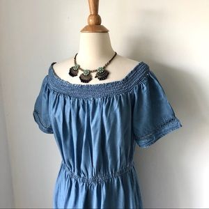 Old Navy chambray midi dress